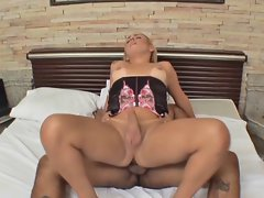 Luscious Shemale Accepts Creampie After Bareback Banging (WAF)