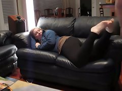 Plumper Girlfriend Thumped on the Sofa