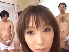 Seductive japanese Lassie gets Gangbanged
