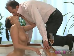 Love Creampie Buxom stepmom gets cum inside her
