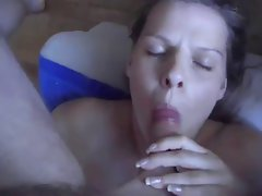 giving blowjob and banging finishing in shocking anus