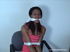 Black damsels cloth gagged bondage and tied lustful ebony fetish