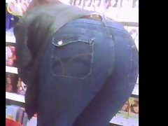 thick attractive mature bum jeans lean