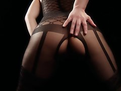 asian experienced solo ebony bodystocking tease