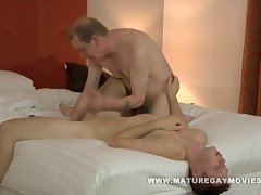 Luscious daddy receives care of his younger lovers dirty ass