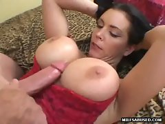 This sensual big tit mommy slutty girl is getting tittyfucked