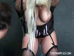 Thick goth amateur slave Edens dirty bdsm and english fattys tit
