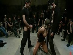 Defiant hotty punished and banged
