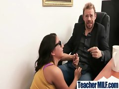 Buxom Teachers And Students Get Wild Sex video-13