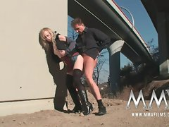 MMV Films Sensual German luscious teen tempting blonde banged outdoor