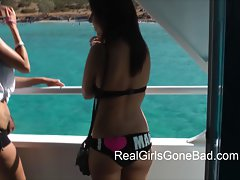 A Luscious BOAT PARTY Enormous melons CONTEST AND OTHER Raunchy ANTICS