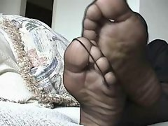 Filthy ebony Feet Play 5