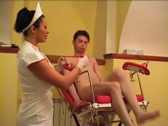 Luscious doctor and patient! Sensual russian Amateur!