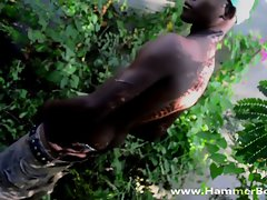 Ebony fat dick Jose Amando from Hammerboys TV