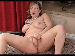 Light-haired Big beautiful woman Exhibitionist