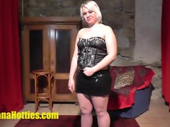 Fatty czech teenager has fun at the CASTING