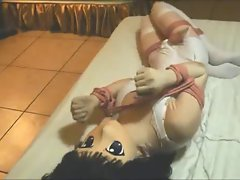 Kigurumi Tied and Made to Orgasm
