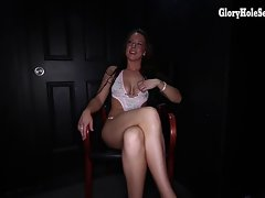 New! Vee licks off and swallows 14 strangers at a gloryhole