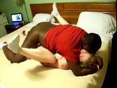Husband watches his slutty wife banged by black fellow
