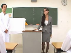 Teacher Ren Azumi gives Rectal Lesson-by PACKMANS