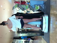 Slutty wife teasing at the mall