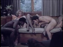 2 girls, 2 lads (Interracial Vintage Foursome Sex!)