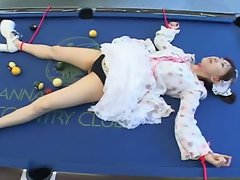 FUJISHIRO Mei on the pool table