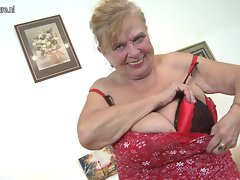 GRANNY Extremely older granny with so extremely large tits