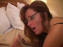 Amateur interracial redhead Cougar in stockings