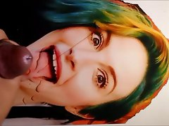 Hayley Williams Cum Tribute on (Tongue and face #2)