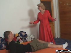 Raunchy mother-in-law receives him