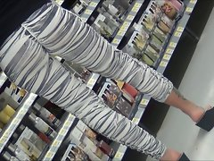 Luscious Latina Mommy in Zebra Spandex