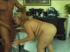 HUNGARIAN Cute bbw GRANNY WITH Fat BOOBS Screwed BY Big black cock
