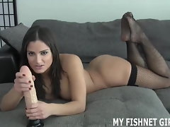 Masturbate your pecker to me in my luscious fishnets JOI