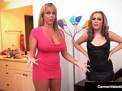 Carmen Valentina & Amber Lynn Bach Do Some 4Some Fucking!