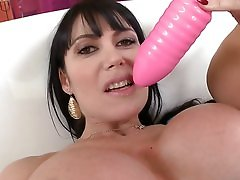 Busty brunette Latina gets a hardcore anal drilling