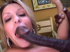 Black bloke has a monster-sized cock ready for his white darling
