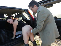 Horny boss is on the road with his lustful secretary