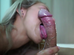 Blonde Latina cutie rides and sucks her hung partner