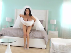 Busty Jasmine Jae in her first wedding night getting plowed