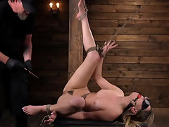 Kristen Scott is denied the opportunity to see during BDSM scene