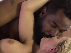 Passionate interracial porn with big black dude and white lass
