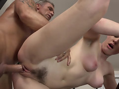 Horny lovers enjoy hot fuck on the billiard table